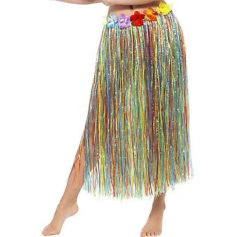 Smiffy's Hawaiian Long Hula Skirt With Flowers