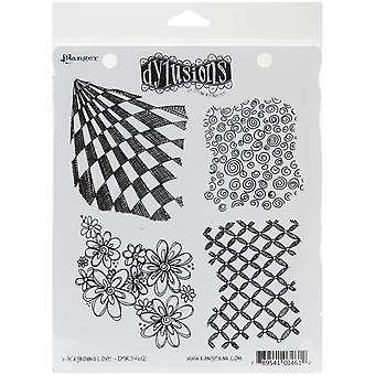 """Dyan Reaveley's Dylusions Cling Stamp Collections 8.5""""X7"""" - Background Love"""