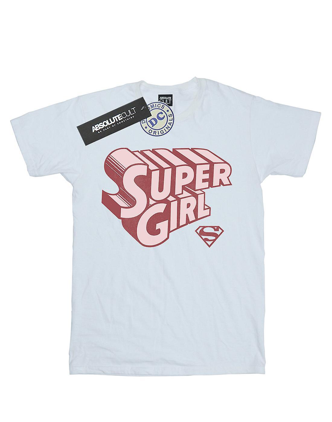 DC Comics Women's Supergirl Retro Logo Boyfriend Fit T-Shirt