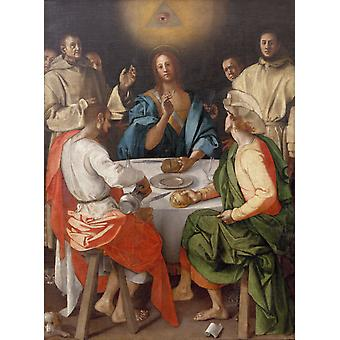 The Supper at Emmaus,Pontormo,50x40cm