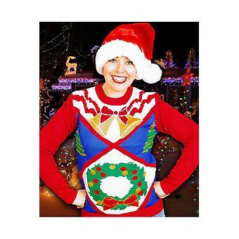 Hombres trajes suéter de Navidad feo con unisex de guirnalda de Adviento