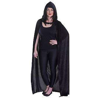 Velvet Black Hooded Cloak