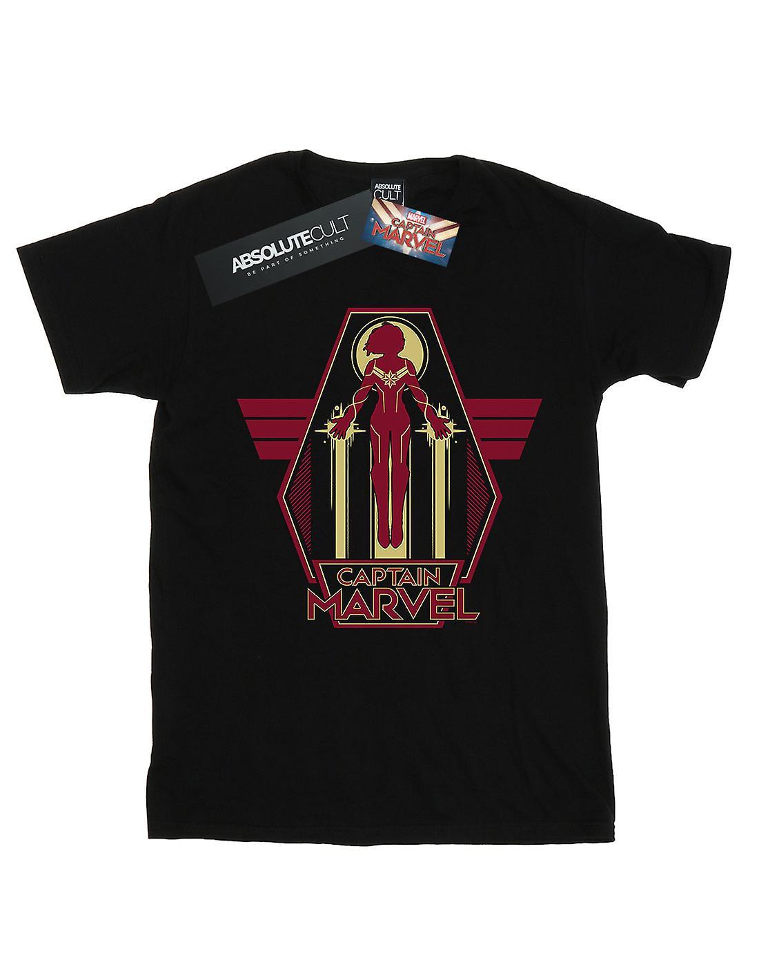 Marvel Women's Captain Marvel Flying Warrior Boyfriend Fit T-Shirt