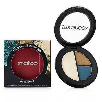 Smashbox Photo Edit Eye Shadow Trio - # On Location (all The Teals Gold Sunnies Pool Boy) - 3.2g/0.11oz