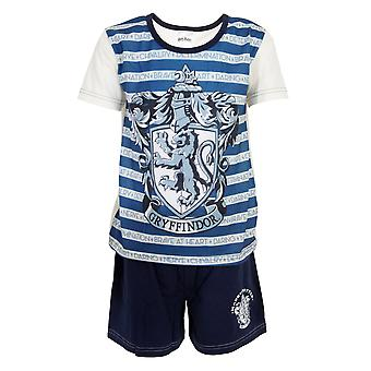 Harry Potter Childrens/Kids Gryffindor Striped Short Pyjama Set