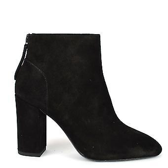 Ash Footwear Joy Black Suede Heeled Boot