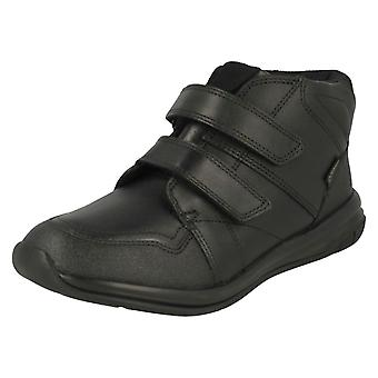 Boys Clarks Sports Inspired High Rise School Shoes Hula Spin GTX