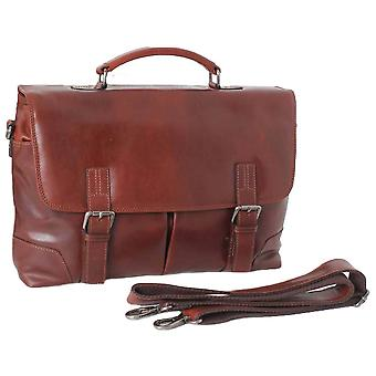 Ashwood Leather Hampstead Cow Rhode Elliot Compatible Laptop Briefcase - Tan