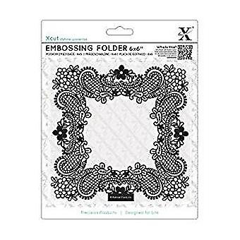 Xcut 6x6 Inch Embossing Folder Ornate Frame