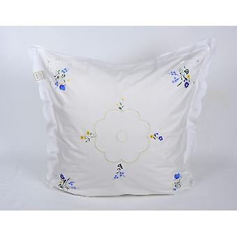 Hossner parade pillow sleeve flower scattering Richelieu embroidery shabby 80 x 80 cm