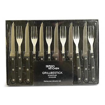 Meat & Barbecue Cutlery 24-pieces
