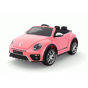 Licensed VW Volkswagen Beetle Dune 12V Kids Electric Ride On Car Pink