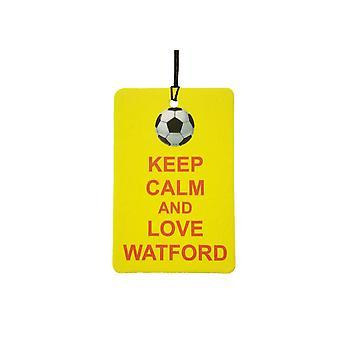 Holde ro og elsker Watford bil Air Freshener