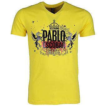 Camiseta-Pablo Escobar Crime Boss-Yellow