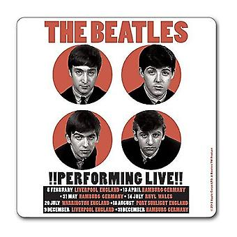 The Beatles Coaster Performing Live 1962 new Official 9.5cm x 9.5cm single