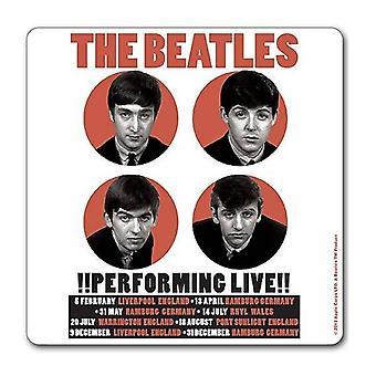 Beatles Coaster suorittaa Live 1962 uusi virallinen 9,5 x 9,5 cm single
