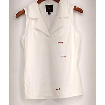 Kathleen Kirkwood Top Layer Piece Notch Collar White A224161