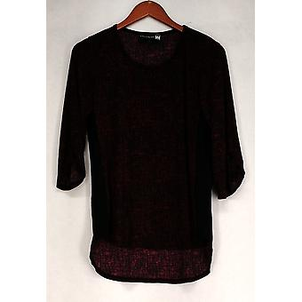 Antthony Top Printed 3/4 Sleeve Brick Red / Black Womens 513-439