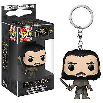 Game of Thrones Jon Snow (Beyond) Pocket Pop! Keychain