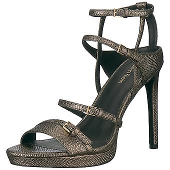 Calvin Klein Womens Shantell Leather Open Toe Casual Ankle Strap Sandals