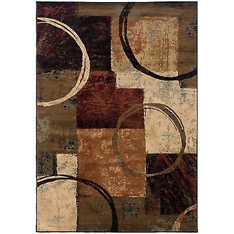 Hudson 2544b brown/black indoor area rug rectangle 10'x13'