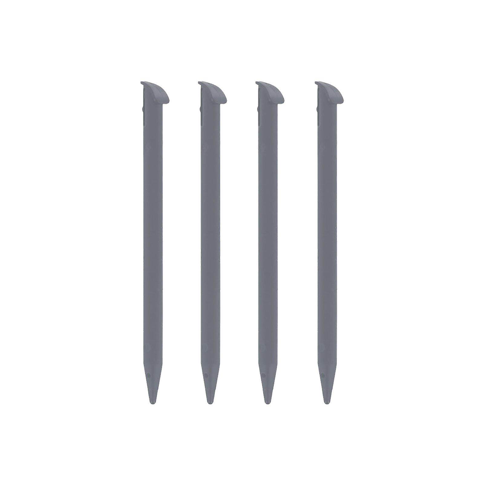 Replacement slot in touch stylus pens for snes edition nintendo new 3ds xl (2015 model) - 4 pack grey