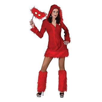 Devil Jennifer Costume Women's Halloween Hooded Dress Fire Satan 60s Women's Costume