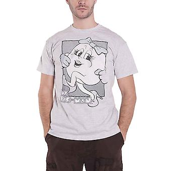 Pac Man T Shirt The Miss new Official retro gamer Mens Grey Unisex