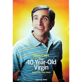 العذراء 40 عاما (نمط مزدوج من جانب A) (2005) ملصق السينما الأصلي