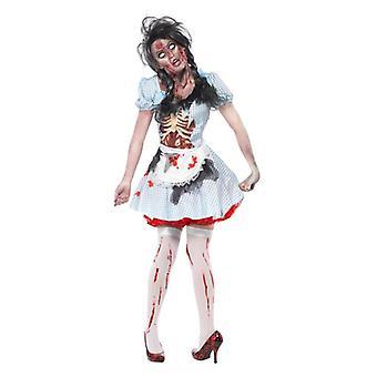 Naisten kauhu zombie Countrygirl Fancy Dress puku Halloween
