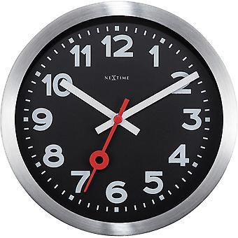 NeXtime-seinä kello/pöytä kello-Ø 19 cm-alumiini-musta-' asema numerot '