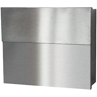 RADIUS letterbox Letterman XXL 2 stainless steel 562 incl. newspaper food