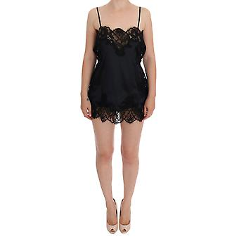 Black Silk Lace Dress Lingerie