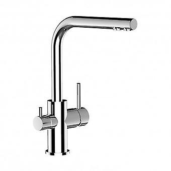 Mezclador de fregadero de filtro de cocina de 3 vías con boquilla giratoria para todos los sistemas de filtro de agua - 71