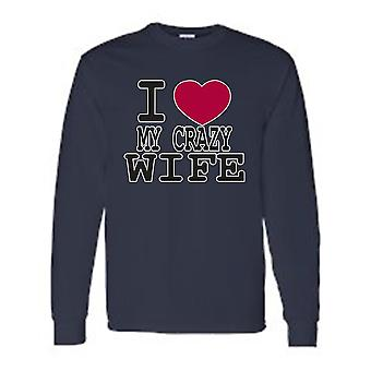 "Funny Cute ""I Love My Crazy Wife"" T-Shirt"
