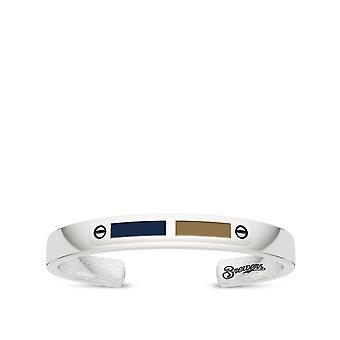 MLB Cuff Bracelet In Sterling Silver Design by BIXLER