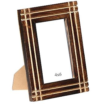 Rustic Look Handmade Picture Frame Stand In Mango Wood