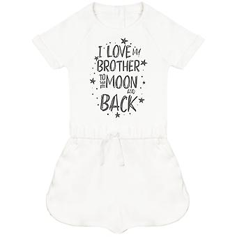 I Love My Brother To The Moon And Back Baby Playsuit