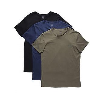 Diesel Umtee Jakethreepack T Shirt schwarz/navy/khaki