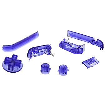 Zedlabz replacement button set for nintendo game boy advance gba agb-001 - transparent purple