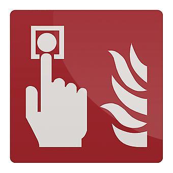 Fire Alarm Call Point Symbol Sign - 150x150mm Rigid