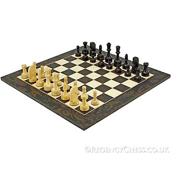 Contemporary Series Ebony Chess Set
