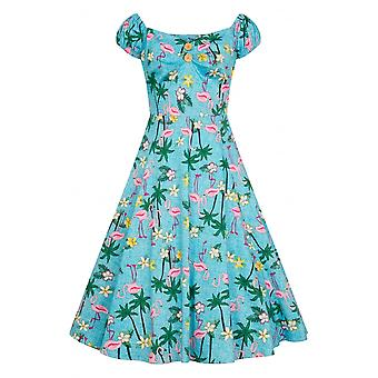 Collectif Tropical Flamingo Dolores Swing Kleid