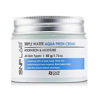 SNP Lab+ Triple Water Aqua Fresh Cream - Hydration & Moisture (For All Skin Types) 50g/1.76oz