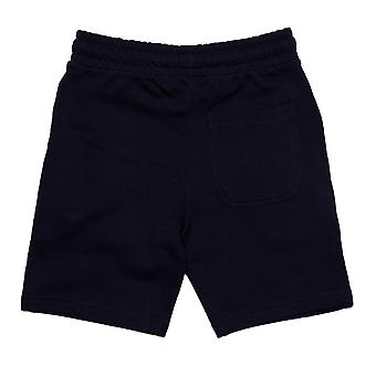 Junior Boys Money Chrome Ape Shorts In Navy- Ribbed Waistband- Pockets To Sides-