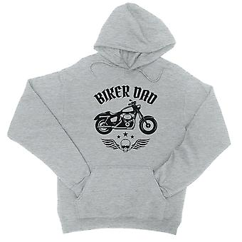 Biker Dad Unisex Grey Fleece Hoodie Strong Dad Quote Father's Day