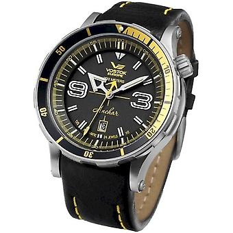 Vostok-Europe Men's Watch NH35A-510A522 Automatic, Diver Watch Leather Bracelet