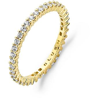 Ring Blush 11239YZI - Yellow gold ring and zirconium-set oxides claw complete round 2mm Woman
