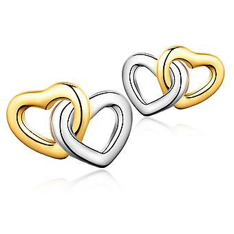 925 Sterling Silver Intertwined Heart Earrings