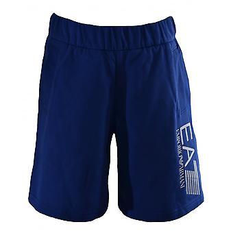 EA7 Boys Ea7 Kids Blue Cotton Shorts